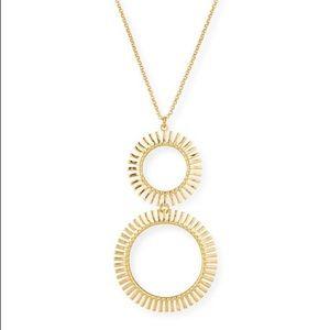 Lele Sadoughi Hula Hoop Golden Pendant